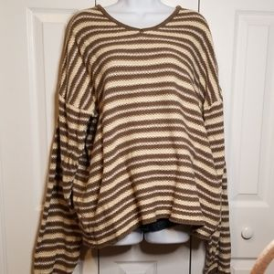 GAP Sweaters - GAP Olive & Cream V-Neck Textured Sweater